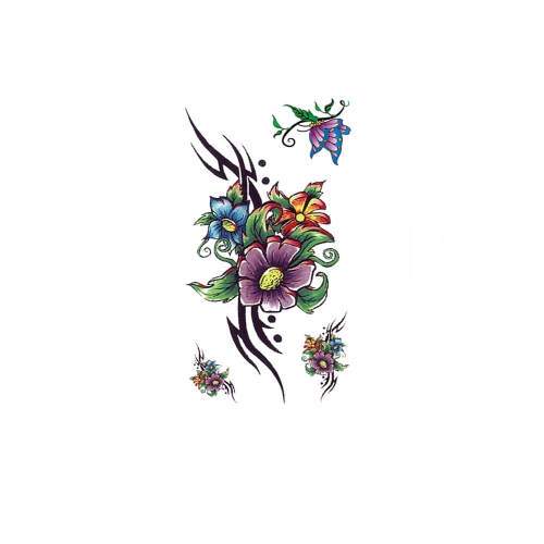 Tattoo Sticker Beautiful Flowers Pattern Waterproof Temporary Tattooing Paper Body Art от Tomtop.com INT