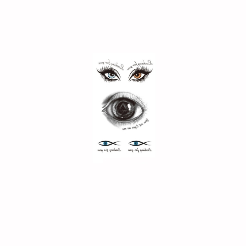 Tattoo Sticker Eyes Pattern Waterproof Temporary Tattooing Paper Body Art от Tomtop.com INT