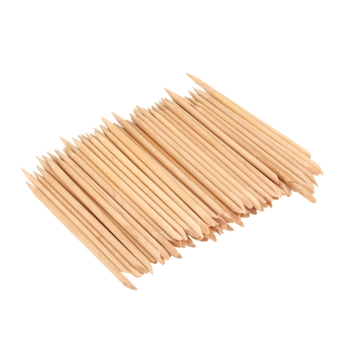 100pcs Nail Art Design Orange Wood Stick Cuticle Pusher Remover Manicure Care Professional Manicure Tools Accessories от Tomtop.com INT