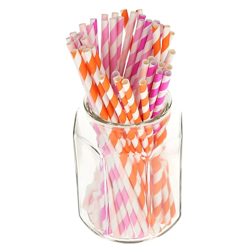4 * 25 Pieces Decorations Colorful Patterned Drinking Paper Straws for Valentine's Day Birthday Party от Tomtop.com INT