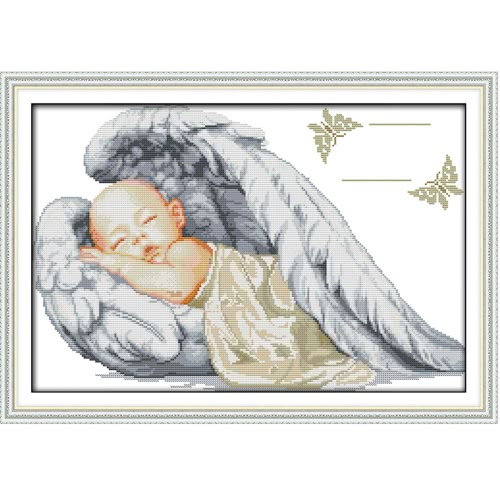 DIY Handmade Needlework Counted Cross Stitch Set Embroidery Kit 14CT Little Angel Pattern Cross-Stitching 51 * 36cm Home Decoration от Tomtop.com INT