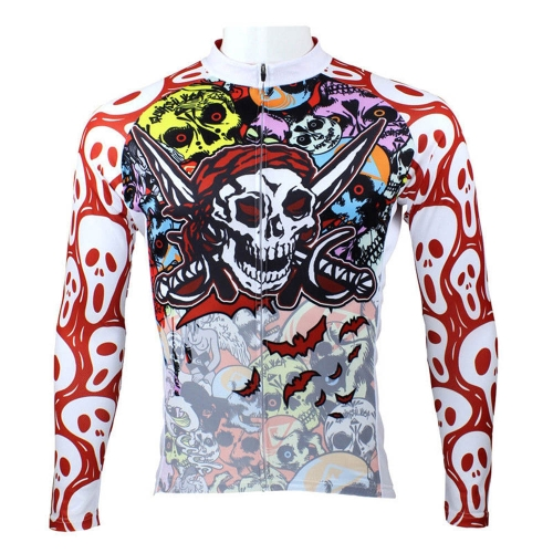 Buy Paladin Sportswear Men's Spring Summer Autumn Style 100% Polyester Long Sleeved Outdoor Cycling Jersey Breathable Clothes