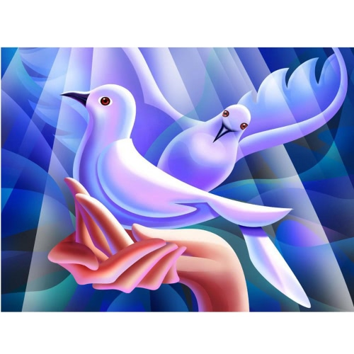 DIY Handmade Full Drill Diamond Painting Set Peace Dove Pattern Resin Rhinestone Pasted Cross Stitch for Home Decoration 40 * 30cm от Tomtop.com INT