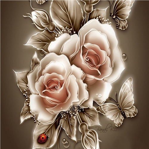 DIY Handmade Full Drill Diamond Painting Set Peonies Pattern Resin Rhinestone Pasted Cross Stitch for Home Decoration 30 * 30cm от Tomtop.com INT
