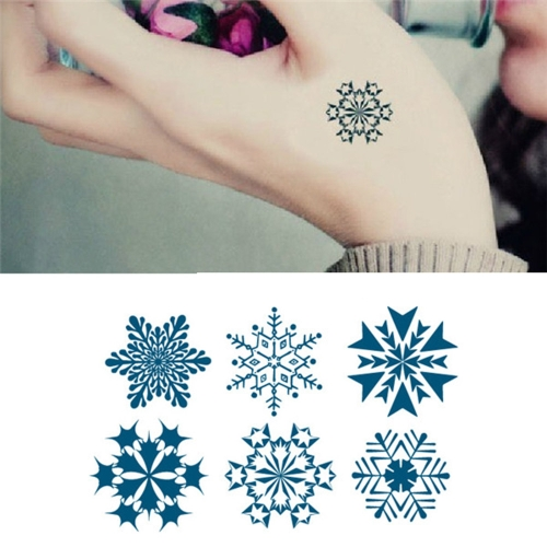 Buy Tattoo Sticker Snowflakes Pattern Waterproof Temporary Tattooing Paper Body Art