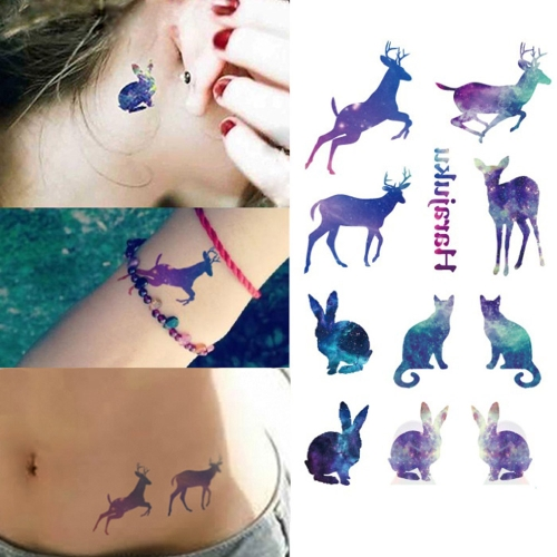 Buy Tattoo Sticker Lovely Animals Pattern Waterproof Temporary Tattooing Paper Body Art