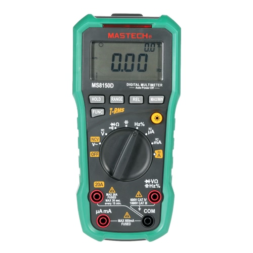 Buy MASTECH MS8150D True RMS Auto Range Digital Multimeter DMM NCV Frequency Capacitance Tester 6600 Counts W/USB Interface