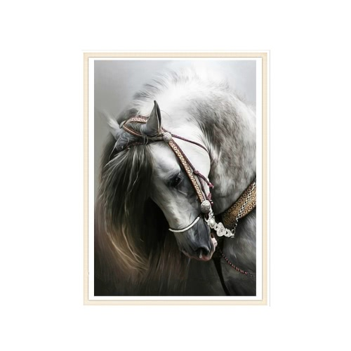 DIY Handmade Full Drill Diamond Painting Set Horse Pattern Resin Rhinestone Pasted Cross Stitch for Home Decoration 30 * 45cm от Tomtop.com INT