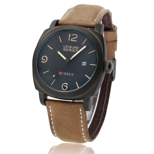 CURREN 8158 Men Wristwatch Water-resistant Leisure Style Fashion Vogue Military Quartz Date Watch от Tomtop.com INT