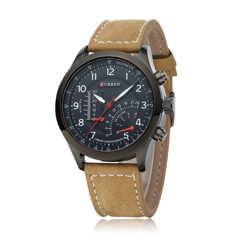 CURREN 8152 Men Wristwatch Water-resistant Leisure Style Military Analog Quartz Dress Watch от Tomtop.com INT