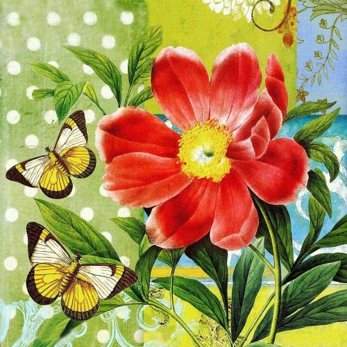 DIY Handmade Diamond Painting Set Butterflies over Flowers Resin Rhinestone Pasted Cross Stitch for Home Decoration 35*35cm от Tomtop.com INT