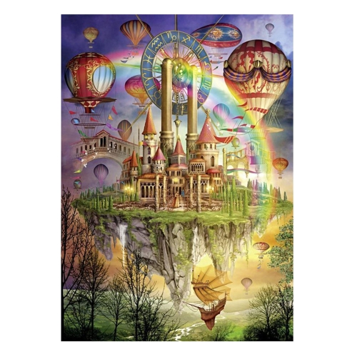 DIY Handmade Diamond Painting Set Flying Castle Resin Rhinestone Pasted Cross Stitch for Home Decoration 30*40cm от Tomtop.com INT