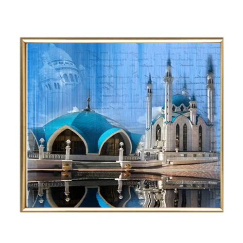 DIY Handmade Diamond Painting Set Western Buildings Resin Rhinestone Pasted Cross Stitch for Home Decoration 30*40cm от Tomtop.com INT