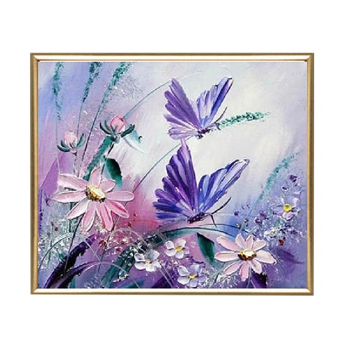 DIY Handmade Diamond Painting Set Butterfly Resin Rhinestone Pasted Cross Stitch for Home Decoration 30*30cm от Tomtop.com INT