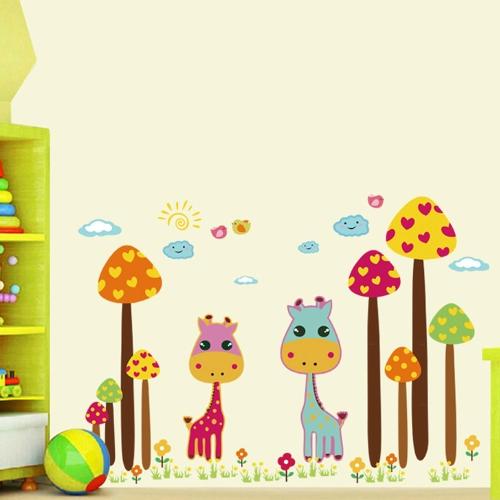Buy Removable Wall Decal Sticker Cartoon Giraffes DIY Wallpaper Art Decals Mural Room Decoration 50 * 70cm