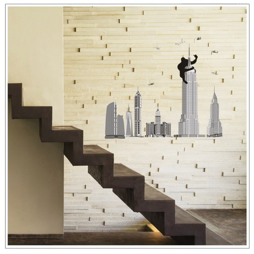 Buy Removable Wall Decal Sticker Tall Buildings DIY Wallpaper Art Decals Mural Room Decoration 60 * 90cm