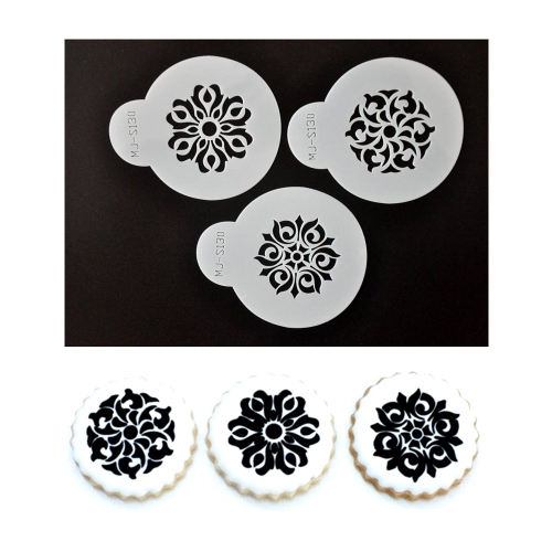 Anself S130 Cake Stencil Coffee Stenciling Chocolate Cookie Stencils