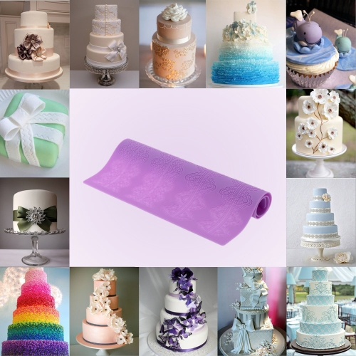 Silicone Fondant Cakes Lace Baking Mold Creative DIY Cake Decoration