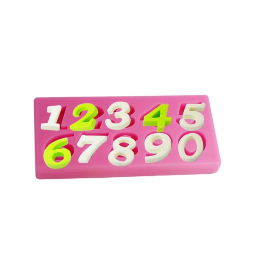 Anself MJ-SM-076 Silicone Mold Cake Cupcake Decoration Beautiful Fondant Chocolate Baking Mould Number Mat