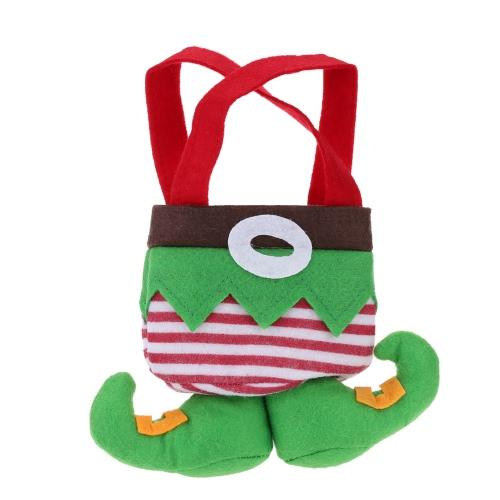 21*17cm Lovely Mini Christmas Gift Candy Chocolate Bag Pocket Festival Decoration
