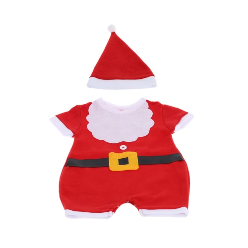 Buy 0-3 Years Kids Children Christmas Costume Unisex Toddler Santa Claus Clothing Suit Xmas Child Jumpsuit Outfit Cloth