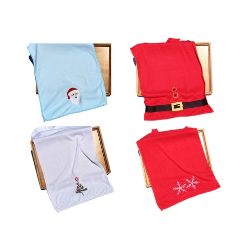 Originalità dell'albero di Natale Babbo Natale fiocco di neve cintura Natale asciugamano asciugamano morbido