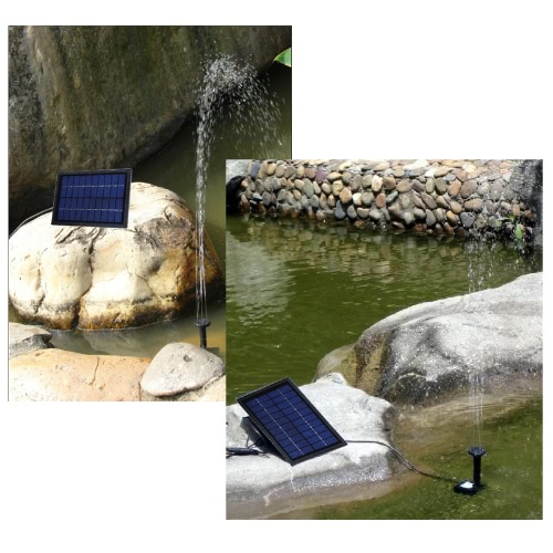 Buy Solar Power Decorative Fountain Water Pump 6 LED Spotlight Garden Pond Pool Cycle 10V 5W