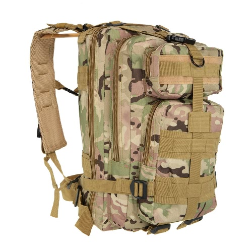 Buy 30L Outdoor Sport Military Tactical Backpack Molle Rucksacks Camping Hiking Trekking Bag Woodland Camouflage