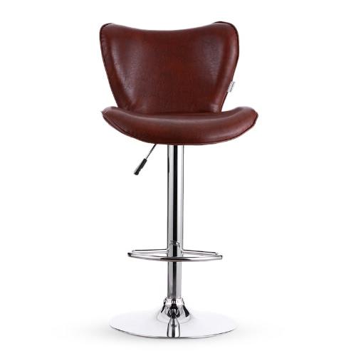 Buy iKayaa 2PCS/Set 2 PU Leather Swivel Bar Stool Chair Height Adjustable Pneumatic Counter Pub Barstools Heavy-duty