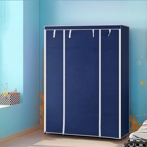Buy iKayaa Portable Fabric Closet Wardrobe Cabinet Storage Organizer Clothes Hanger 13 Shelves 1 Hanging Rod