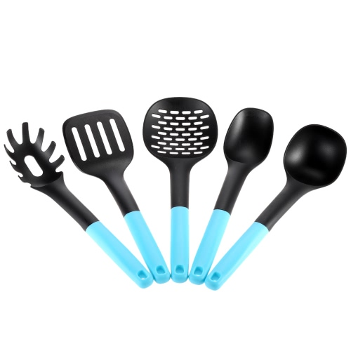Buy 5pcs/set NonStick Nylon PP Kitchen Utensil Set Safety Cooking Tools Gadget Utensils Scald-proof Kitchenware