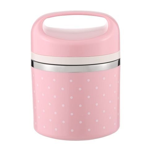 780ml 1-Layer Good Quality Stainless Steel Thermal Lunch Box Practical Handy Insulation Lunch Box Multifunctional Heat & Cold Preservation Box Food Carrier Travel & To-Go Food Containers