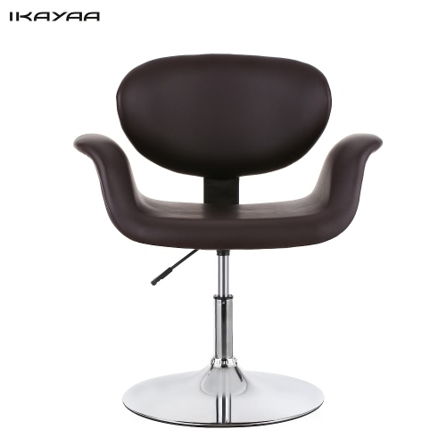 Buy iKayaa Modern Ergonomic Adjustable PU Leather Salon Barber Chair Stool Padded Pneumatic Haidresser