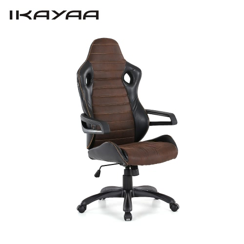 Buy iKayaa Cool Adjustable Racing Style Executive Office Chair PU Leather Swivel Computer Task High Back 120KG Load Capacity W/ Bucket Seat Tilt Lock