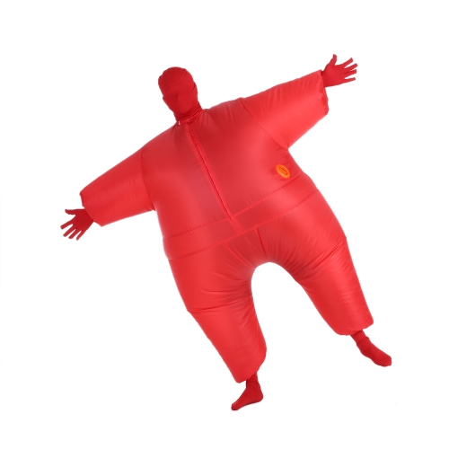 Funny Adult Size Inflatable Full Body Costume Suit Air Fan Operated Blow Up Fancy Dress Halloween Sports Party Fat Inflatable Jumpsuit Costume от Tomtop.com INT
