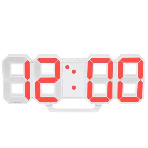 Buy Multifunctional Large LED Digital Wall Clock 12H/24H Time Display Alarm Snooze Function Adjustable Luminance