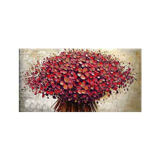 "24""*48"" Hand Painted Oil Painting Unframed Canvas Floral Wall Picture Wall Decoration Painting Beautiful Room Decoration 60*120cm Painting Home Decoration Housewarming Gift от Tomtop.com INT"