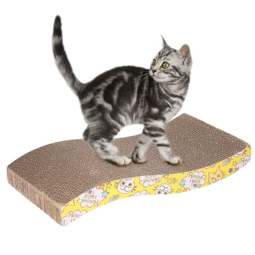Festnight New Pet Cat Scratch Board Kitten Corrugated Pad Cats Toy Scratcher Bed Mat Claws Care Interactive Toy Scratching Post Pet Cat Training