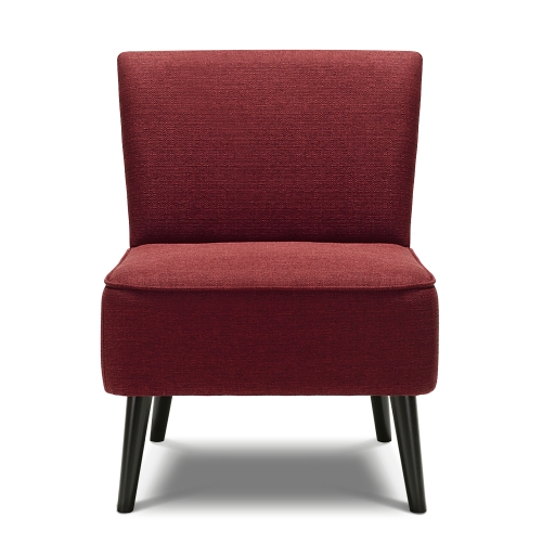 Buy iKayaa Contemporary Padded Big Seat Accent Side Chair Linen Fabric Upholstered Occasional Living Room Lounge Bedroom Furniture W/ Rubber Wood Legs