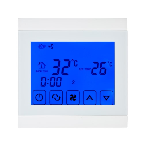 Buy 220-230V Air Conditioner 2-pipe Thermostat LCD Display Good Quality Touch Screen Programmable Room Temperature Controller Home Improvement Product