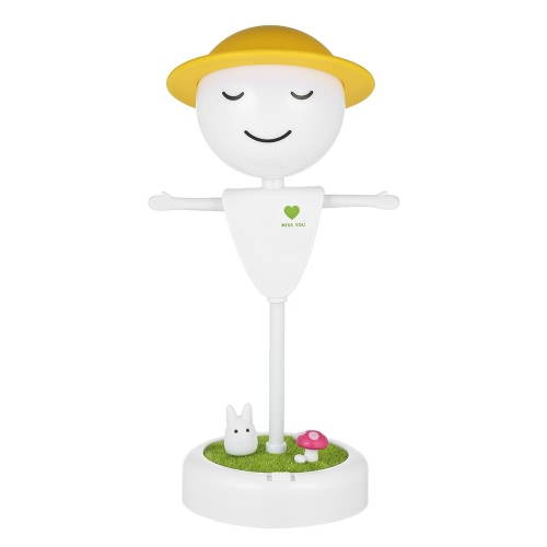 Scarecrow Style USB Rechargeable Vibration Sensor Baby Room LED Night Light Nursery Bedroom Lamp with USB Port