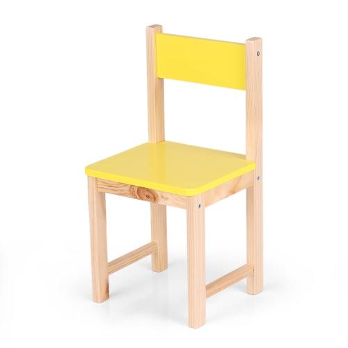 Buy iKayaa Cute Wooden Kids Chair Stool Solid Pine Wood Children Stacking School Furniture 80KG Load Capacity