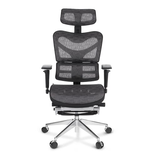 Buy iKayaa Multi-function Adjustable Mesh Ergonomic Office Chair Swivel Tilt Executive Computer Desk W/ Footrest Headrest Lumbar Support Pass ANSI/BIFMA Standard