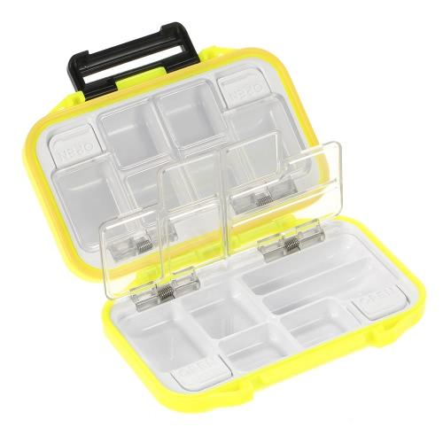 Buy 12 Compartments Waterproof Storage Case Fly Fishing Lure Spoon Hook Bait Tackle Box Orange
