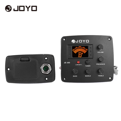 Buy JOYO JE-305 Acoustic Guitar Piezo Pickup Preamp 4-Band EQ Equalizer Tuner System LCD Display