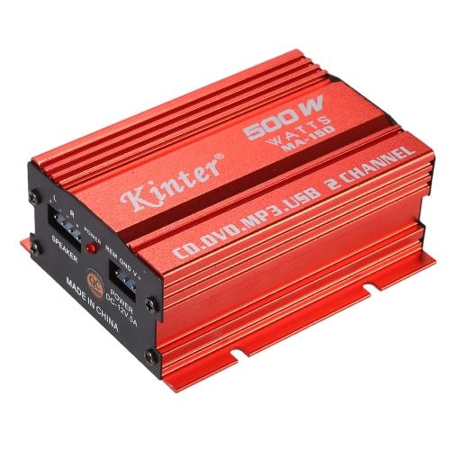 Kinter MA-150 Mini HiFi Speaker Digital Stereo Audio Power Amplifier Amp USB Charging Port