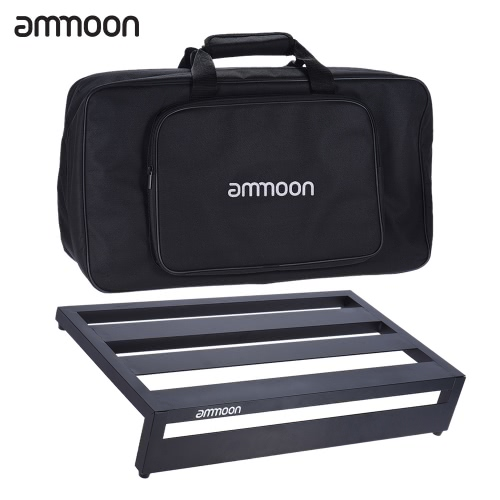 Buy ammoon DB-3 Portable Guitar Effect Pedal Board Pedalboard Aluminum Alloy Carrying Bag Pedals Mounting Tapes