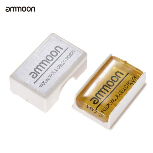 ammoon Transparent Orange Natural Rosin Cuboid for Violin Viola Cello Handmade Light and Low Dust