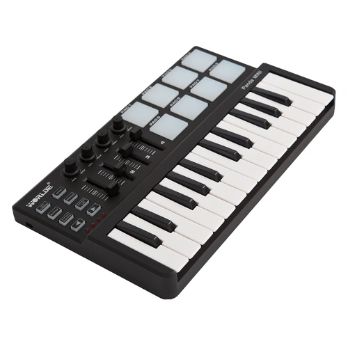 25-Key USB Keyboard and Drum Pad MIDI Controller,limited offer $44.99