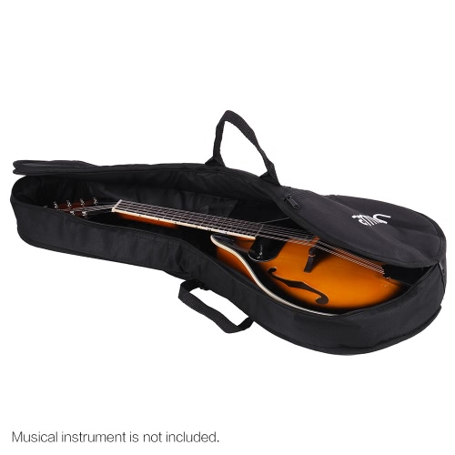 ammoon A Style Soft Mandolin Gig Bag Shoulder Backpack Durable Washable with 7mm Padding Double Straps